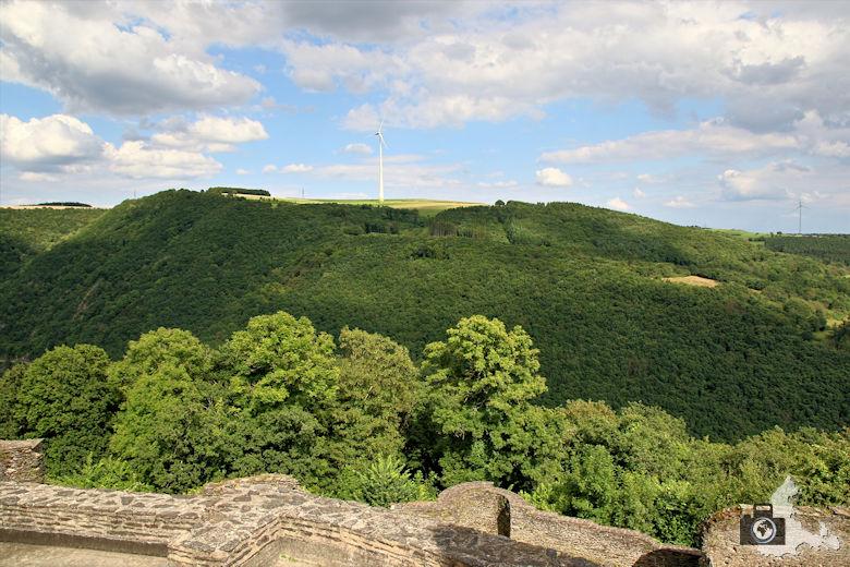 Fernsicht von der Burg Bourscheid, Luxemburg