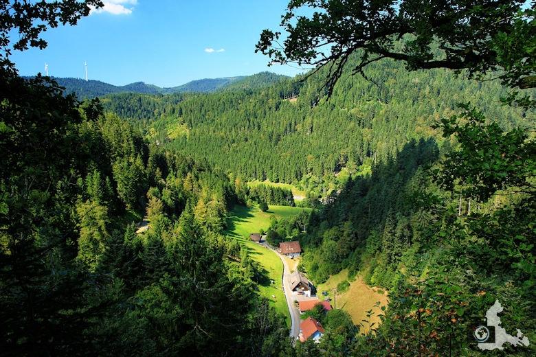 Burgbachwasserfall Wanderung - Aussicht Burgbachfelsen