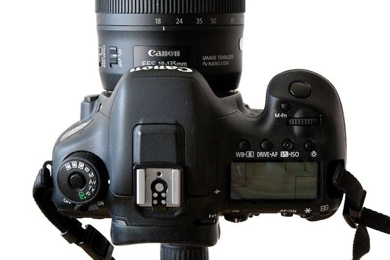 Canon EOS 7D Mark II Draufsicht