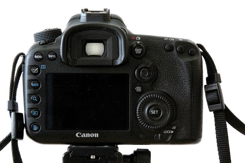 Canon EOS 7D Mark II Rückseite