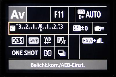 Canon EOS 7D Mark II Menü Einstellungen