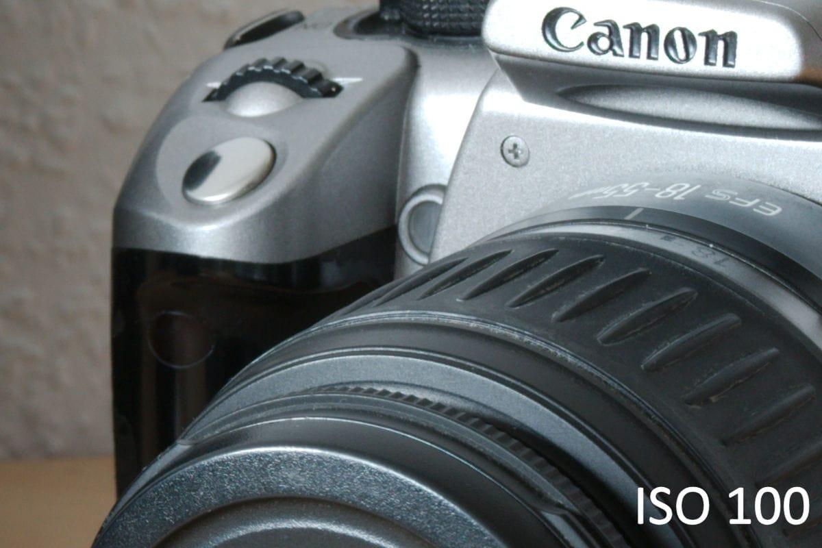 ISO 100 mit der Canon 7D Mark II