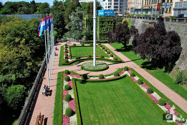 Luxemburg Ausblick vom Place de la Constitution