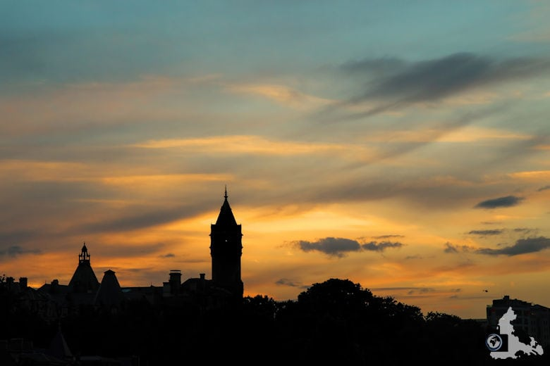 Luxemburg Stadt Silhouette im Sonnenuntergang