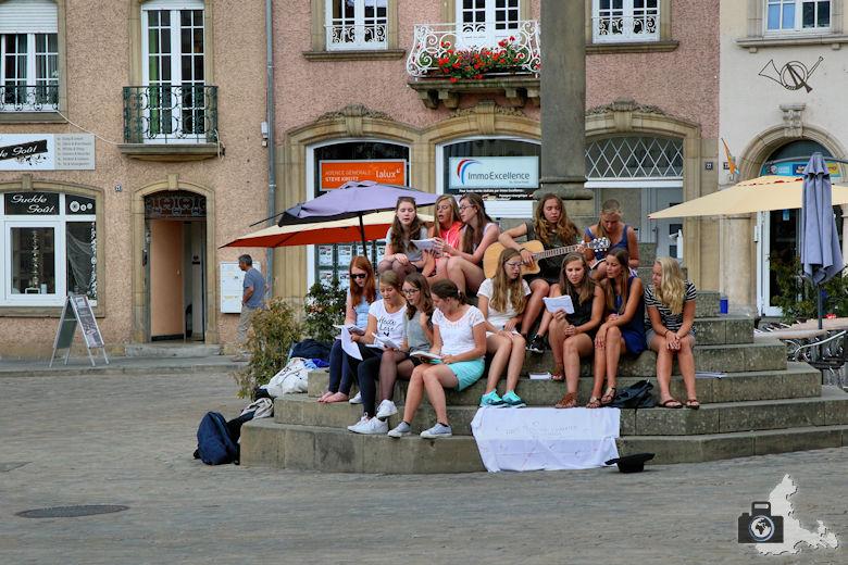 Marktplatz in Echternach, Luxemburg