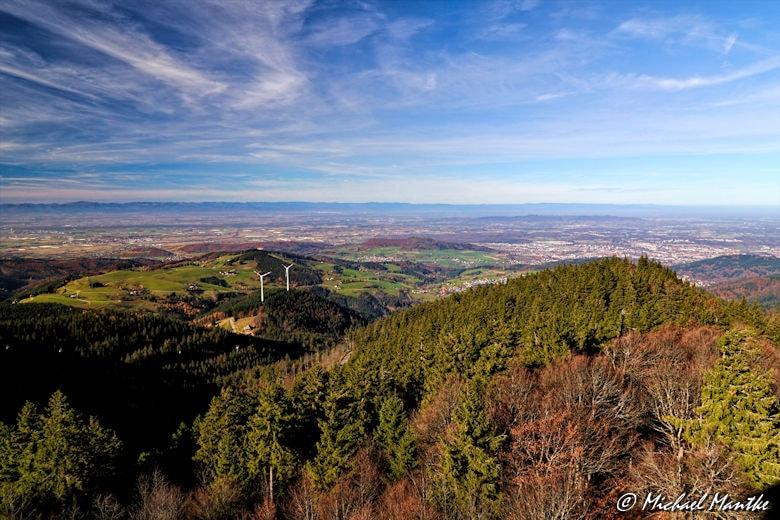Schauinsland Blick nach Freiburg