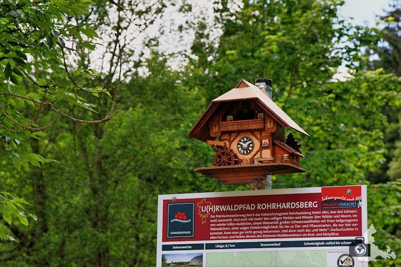 Uhrwaldpfad Rohrhardsberg Kuckucksuhr