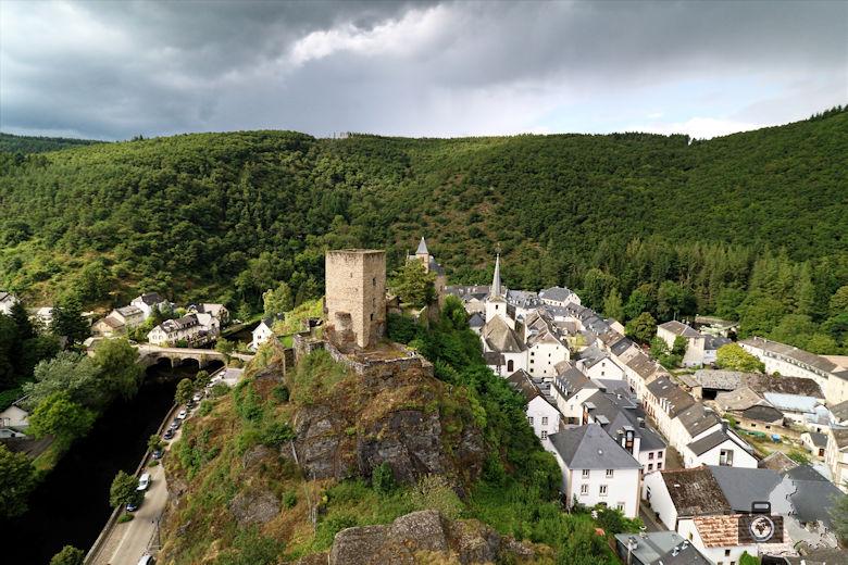 Aussicht Burg-Ruine Esch-sur-Sûre