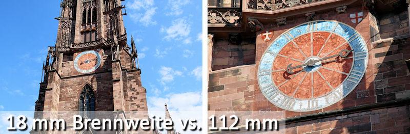 Brennweitenvergleich beim Canon 18-135 IS USM