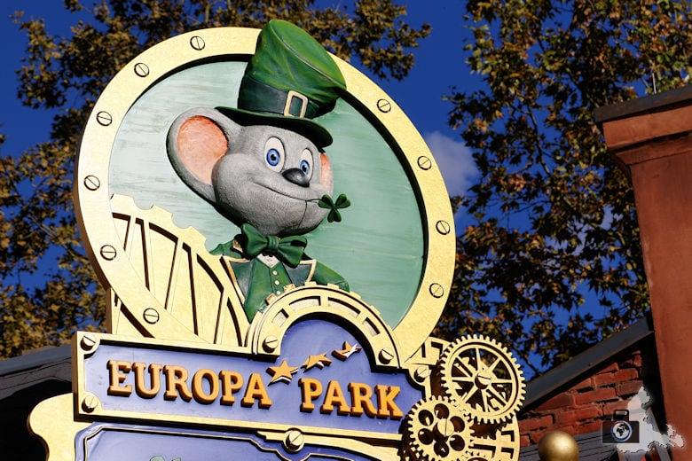 Euromaus im neuen Irland Viertel des Europa-Parks