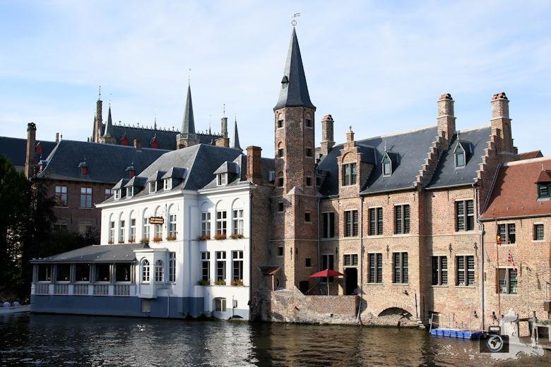 Gracht in der Altstadt Brügge in Belgien