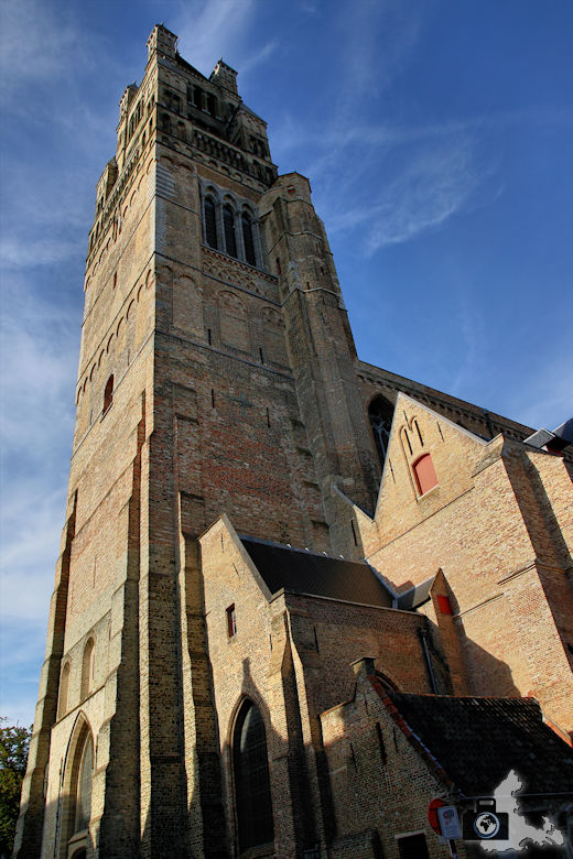 Kirche in der Altstadt Brügge in Belgien
