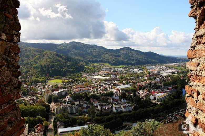 Ausblick von der Kastelburg in Waldkirch