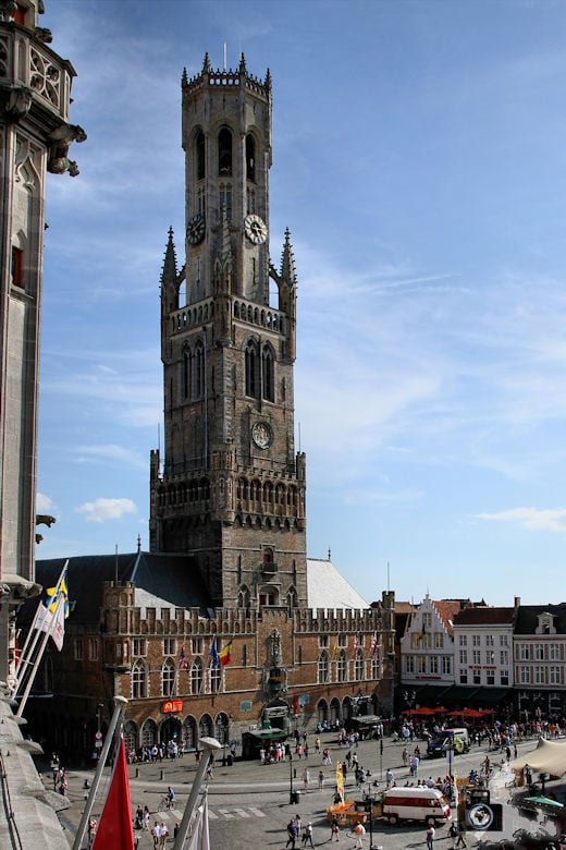 Belfried von Brügge in Belgien