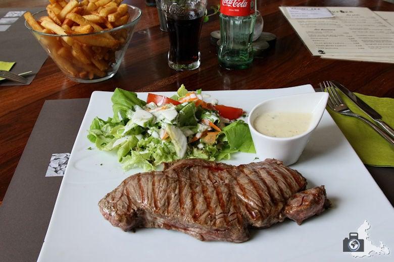 Brasserie in Wéris in den Ardennen