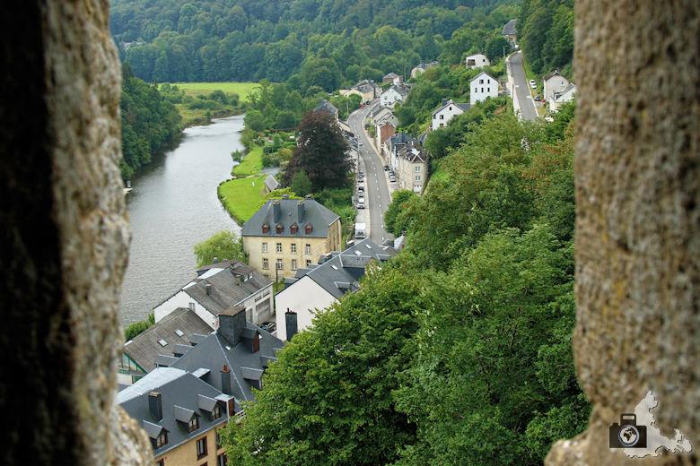Ausblick von Burg Bouillon in Belgien