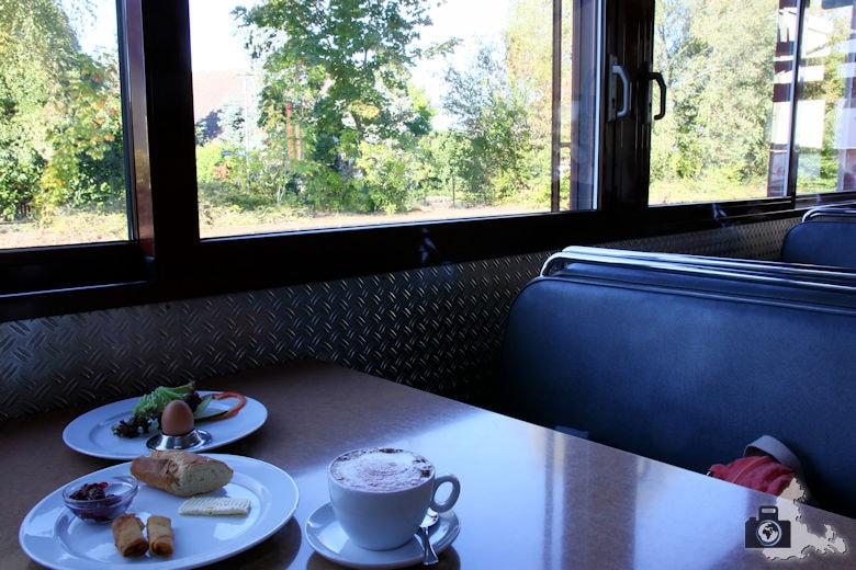 Frühstücken im Gleis 1 in Hugstetten