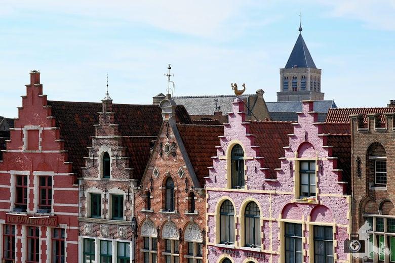 Häuserfassaden Brügge in Belgien
