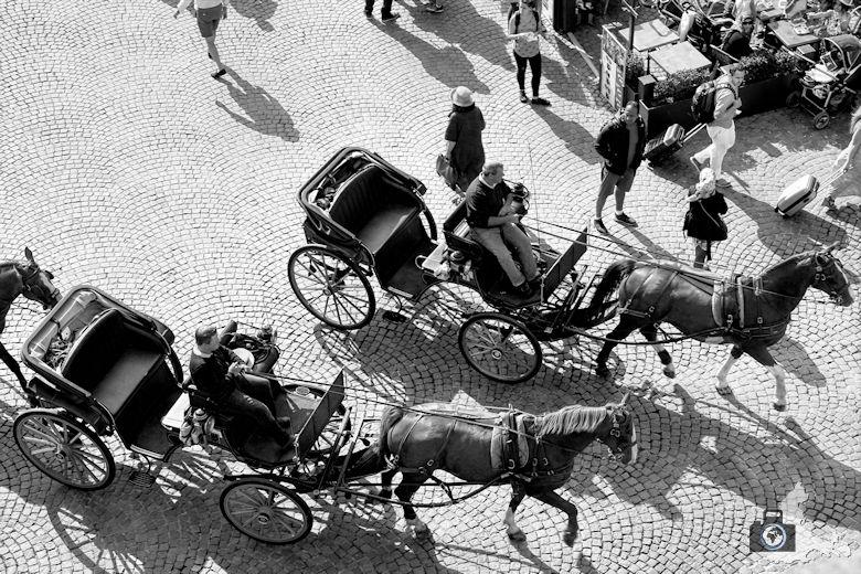 Pferdekutschen in Brügge in Belgien