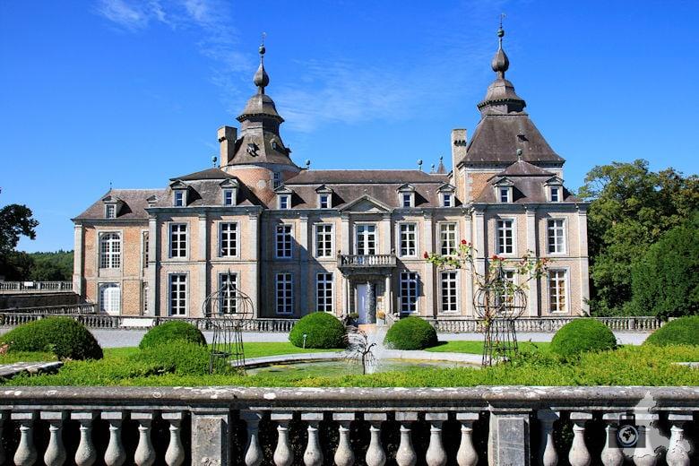 Schloss Modave Außenanlage in Belgien