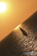 Mittelmeer Kreuzfahrt - Sonnenuntergang mit Segelschiff