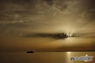 Mittelmeer Kreuzfahrt - Sonnenuntergang