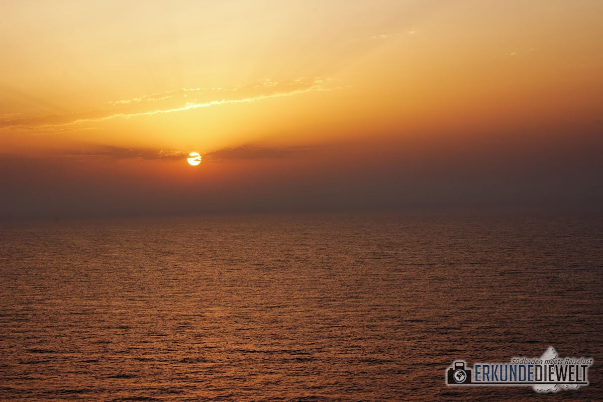 Mittelmeer Kreuzfahrt - Sonnenaufgang