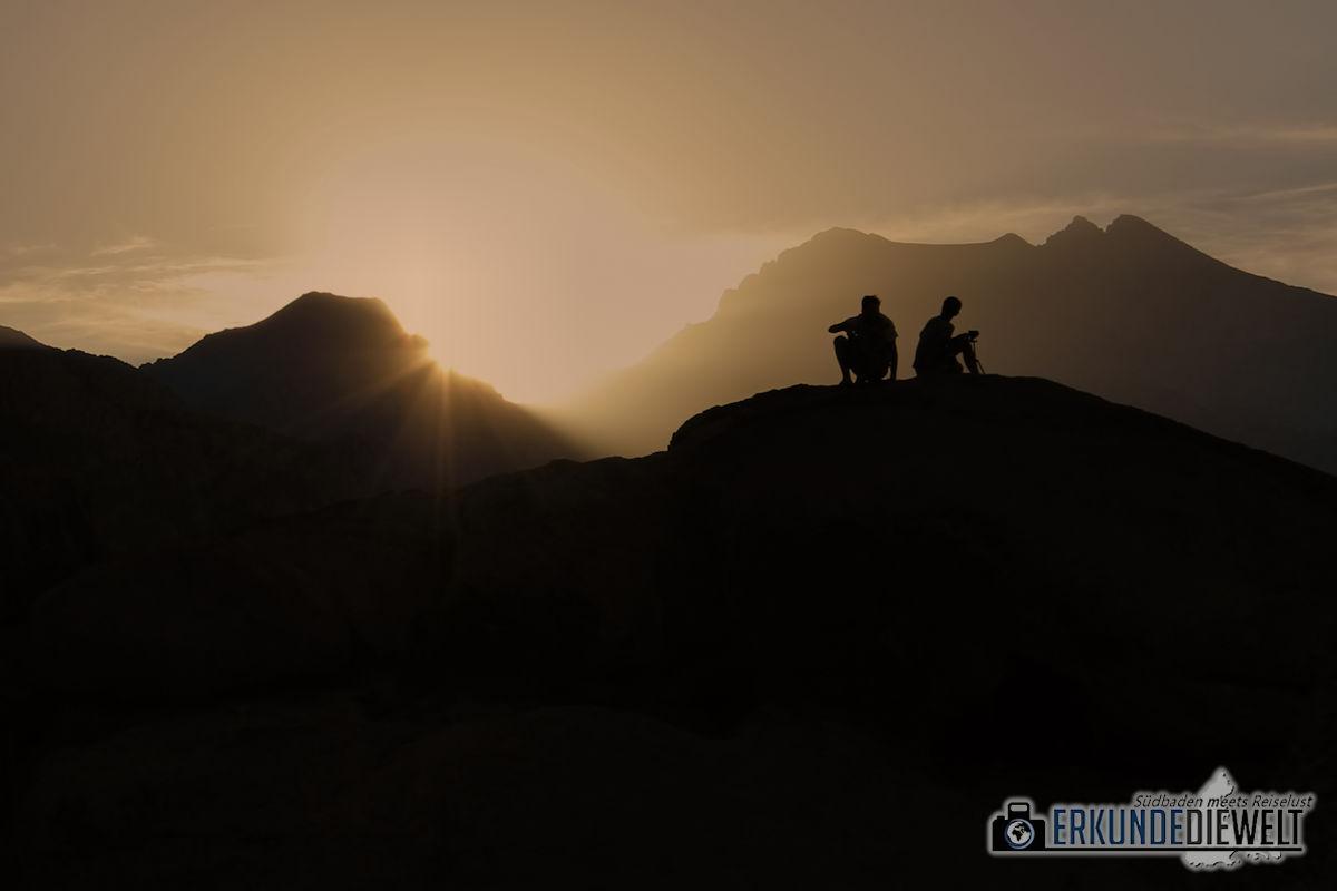 Sonnenuntergang, Alabama Hills, Kalifornien, USA
