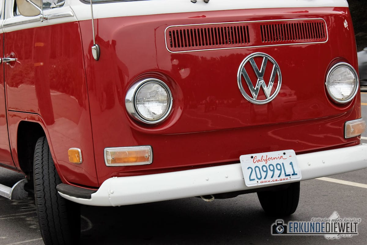 roter VW Bus, San Francisco, Kalifornien, USA