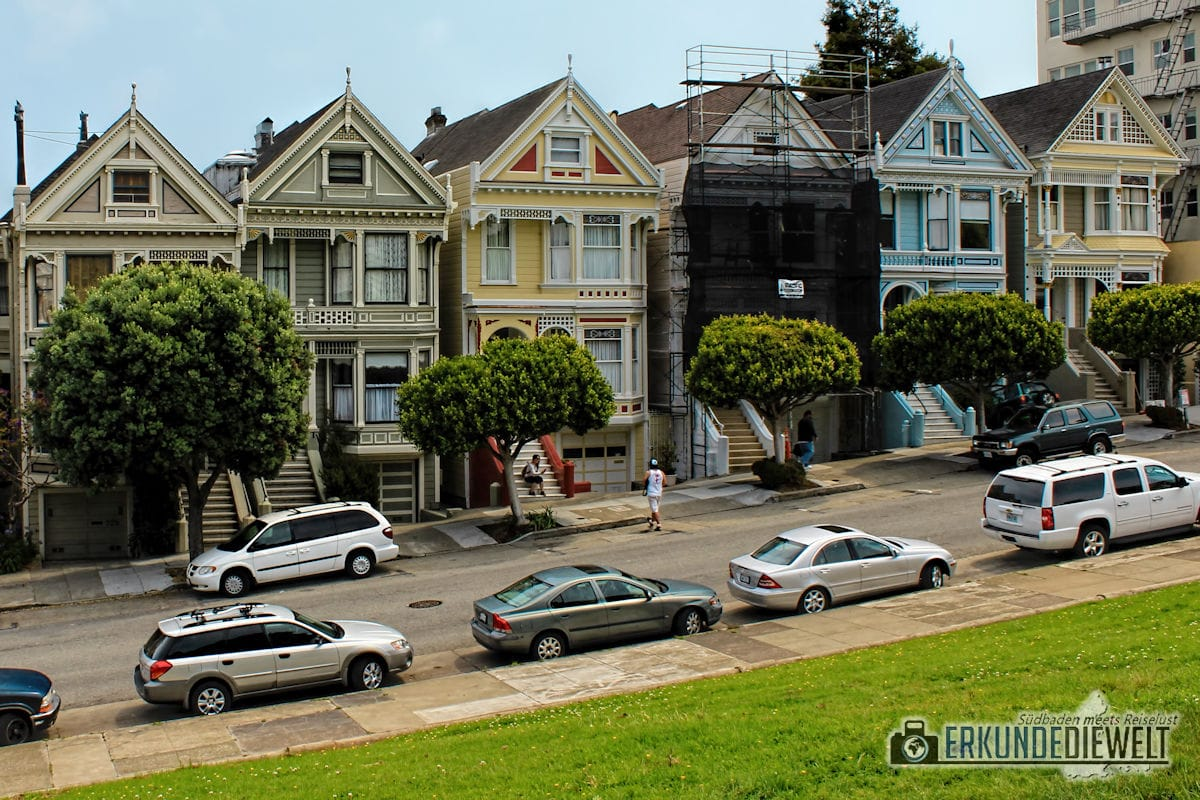 Painted Ladies am Alamo Square, San Francisco, Kalifornien, USA
