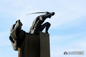 t'Zand Market, Statue, Brügge, Belgien