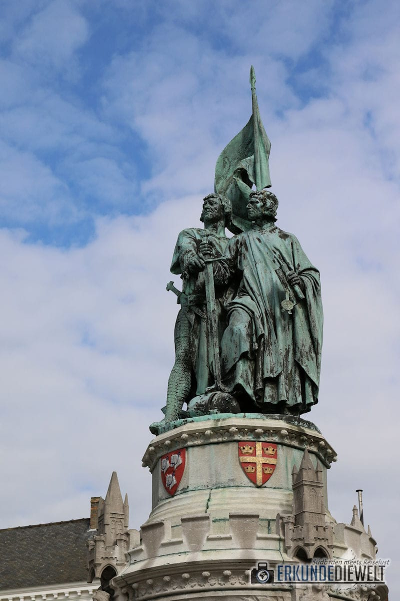 Denkmal zu Ehren Jan Breydel und Pieter de Coninck, Brügge, Belgien