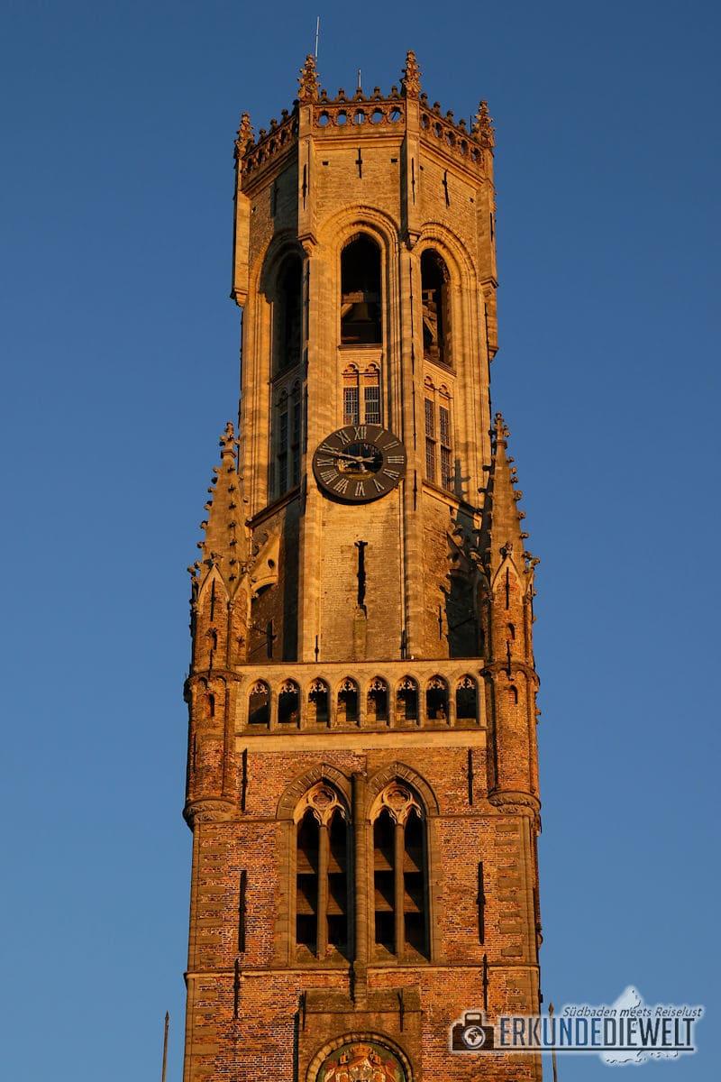 Belfried bei Sonnenuntergang, Brügge, Belgien