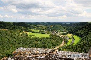 Ausblick von Burg Bourscheid, Luxemburg