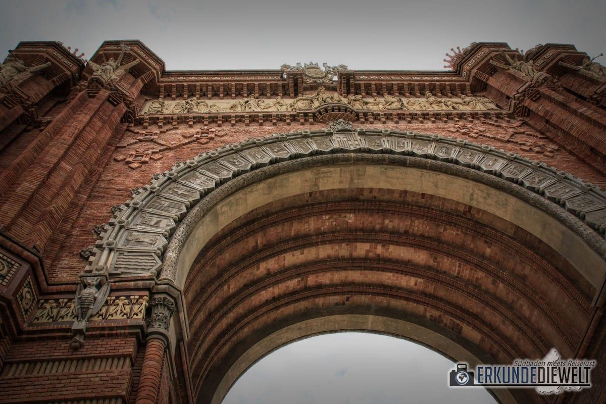 Arc de Triomf, Barcelona, Spanien