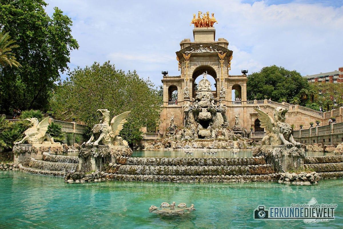 Drachenbrunnen im Parc de la Ciutadella, Barcelona, Spanien