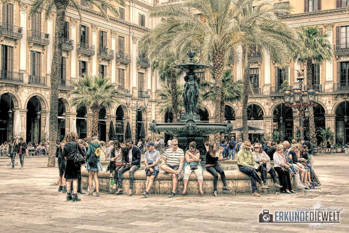 Königlicher Platz, Barcelona, Spanien