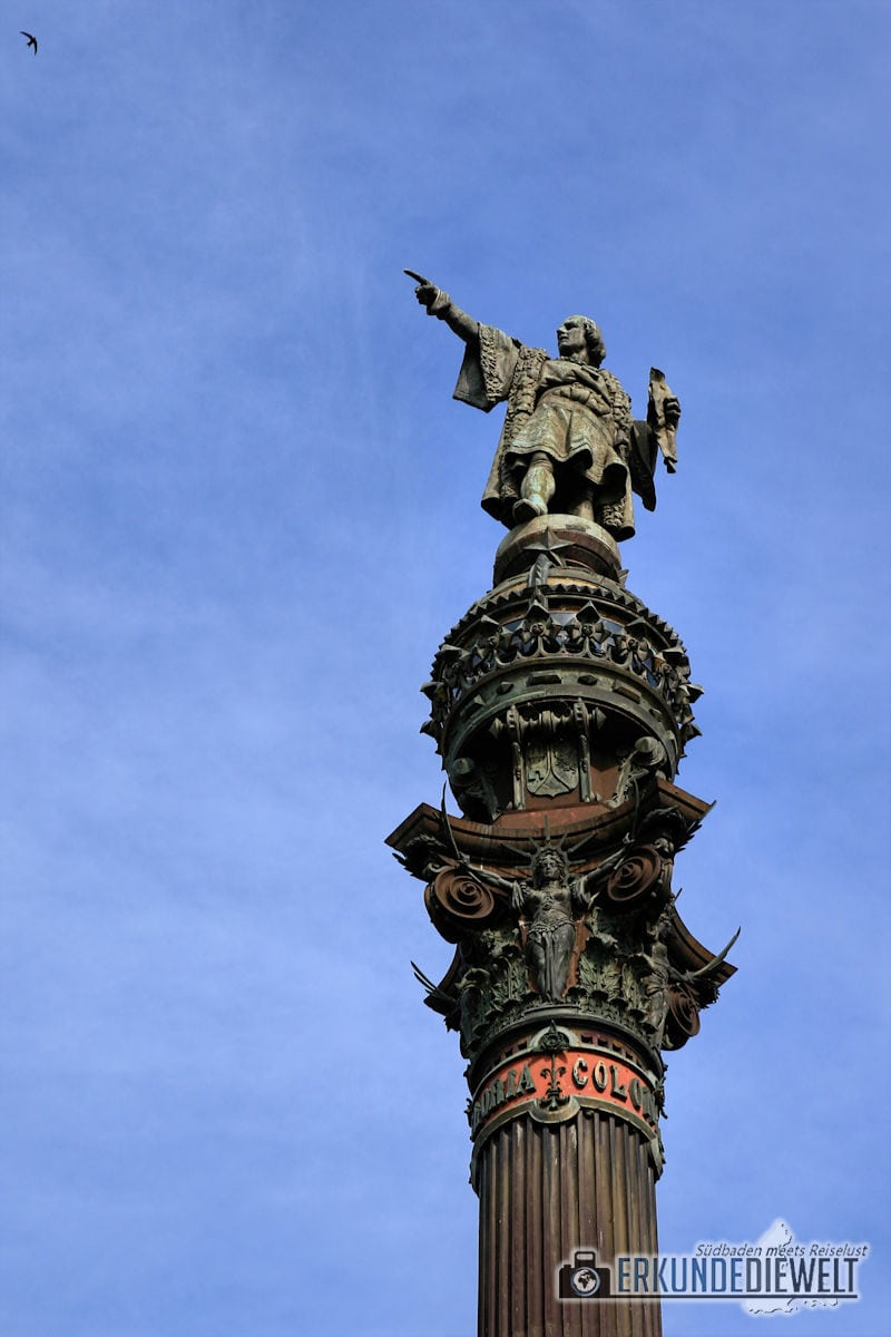 Columbus Statue, Barcelona, Spanien