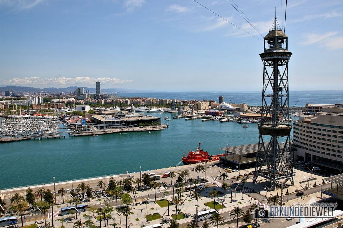 Hafenseilbahn, Barcelona, Spanien