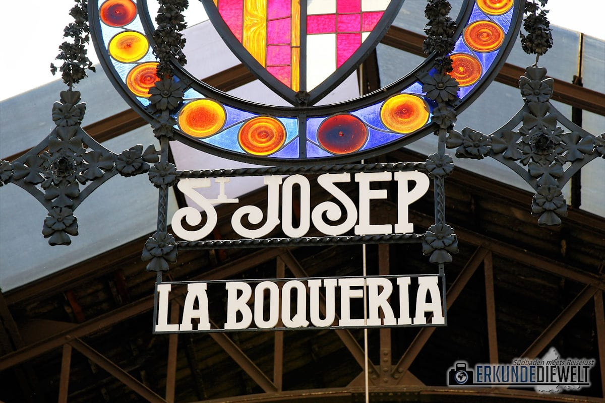 Mercat de la Boqueria, Barcelona, Spanien