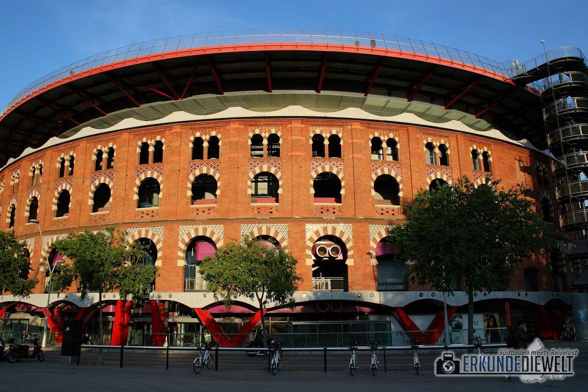 Arena am Placa de Espanya, Barcelona, Spanien