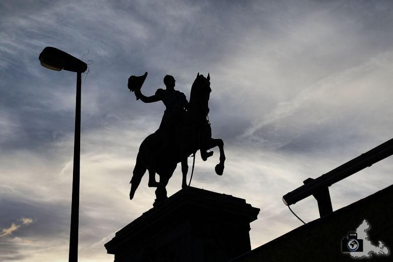 Fotoparade 2-2016 Berühmt - Reiterstatue Wilhelm II in Luxemburg Stadt