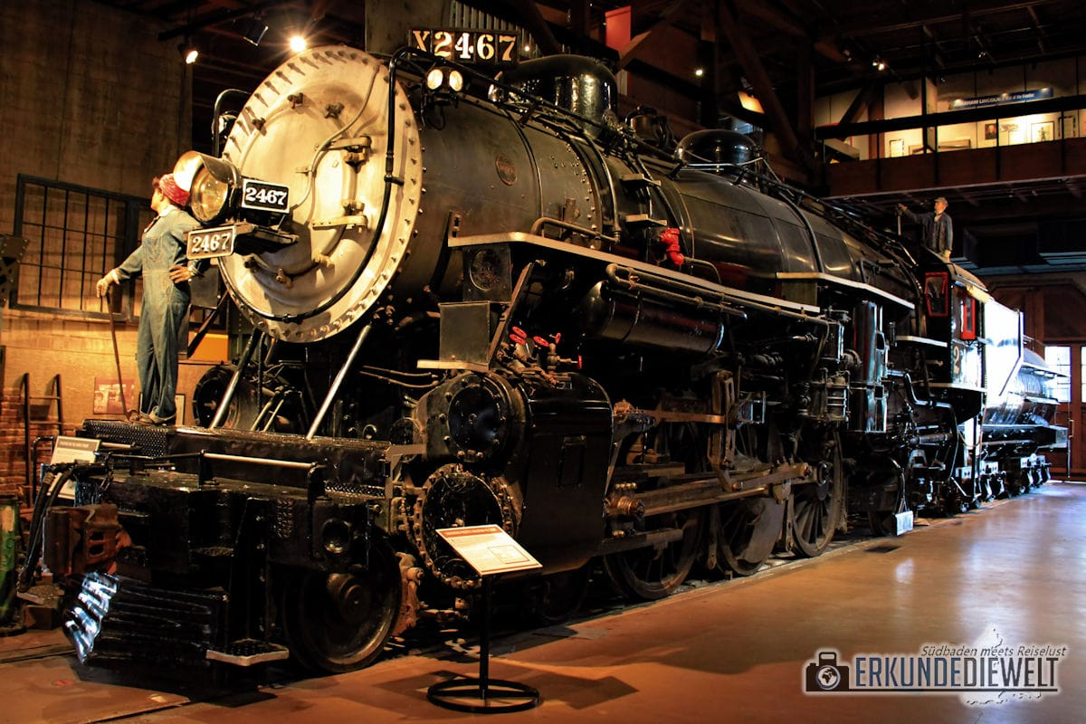 California State Railroad Museum, Sacramento, Kalifornien, USA