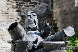 Stinkefinger auf Burg Gravensteen, Gent, Brüssel
