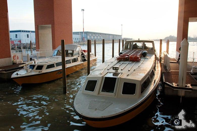 Mit dem Boot der Alilaguna vom Flughafen Marco Polo nach Venedig
