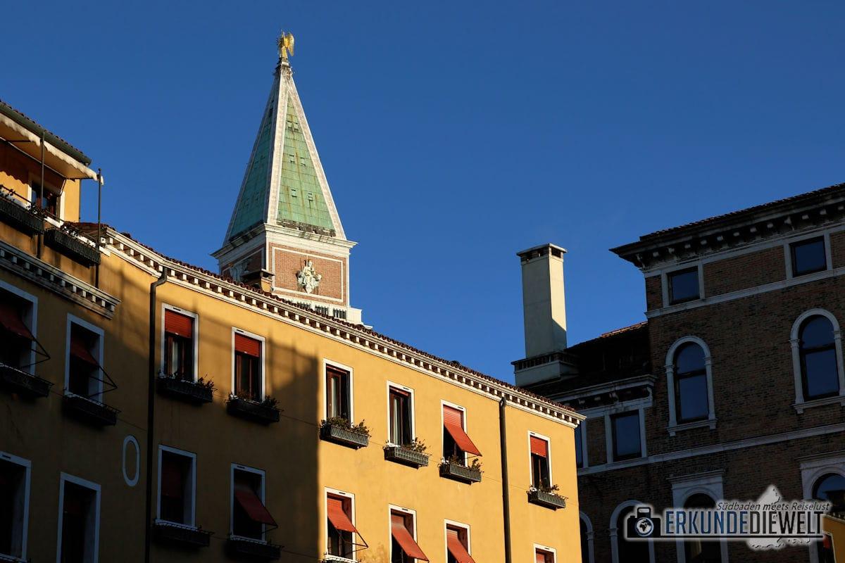 Spitze des Campanile, Venedig, Italien