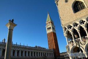 Campanile am Markusplatz, Venedig, Italien