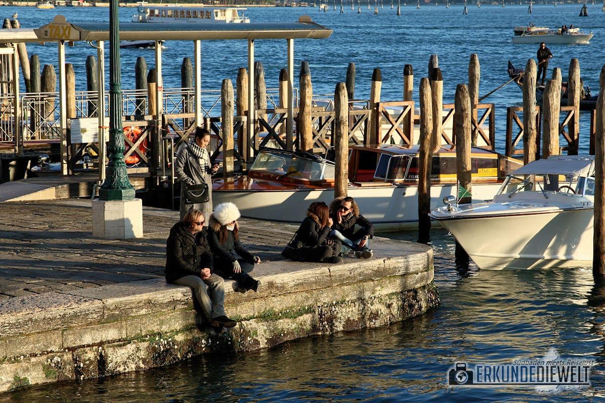 Abends an der Lagune, Venedig, Italien