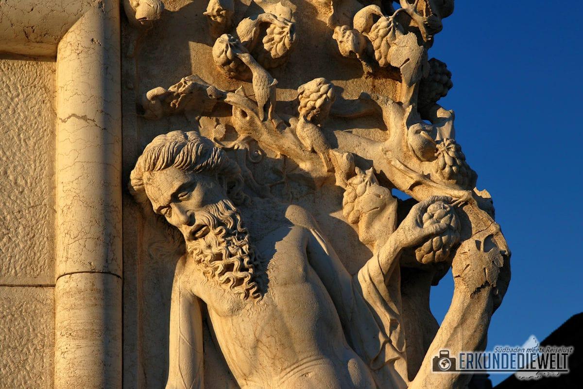 Fassadenkunst. Venedig, Italien