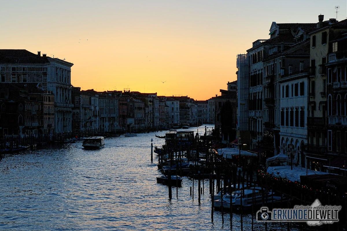Canal Grande nach Sonnenuntergang, Venedig, Italien